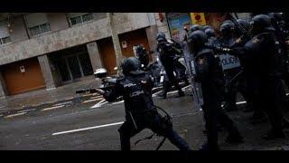 Referendum in Katalonien: Polizei setzt Gummigeschosse gegen Wähler ein