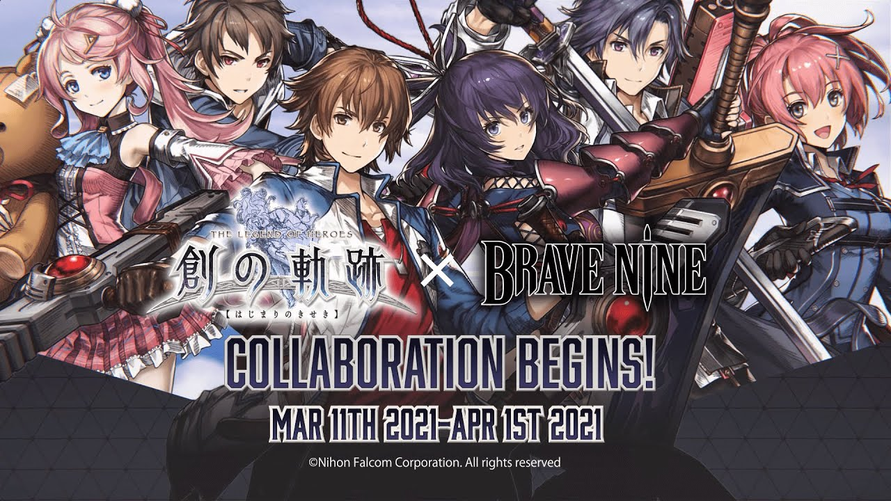 Brave Nine's Strolls into March with a Legend of Heroes Crossover Event and New Spell Card System