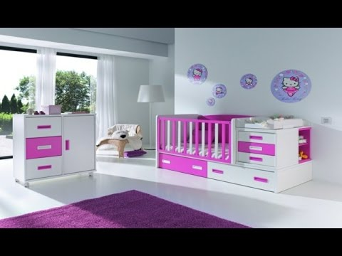 decoration chambre a coucher fille youtube. Black Bedroom Furniture Sets. Home Design Ideas