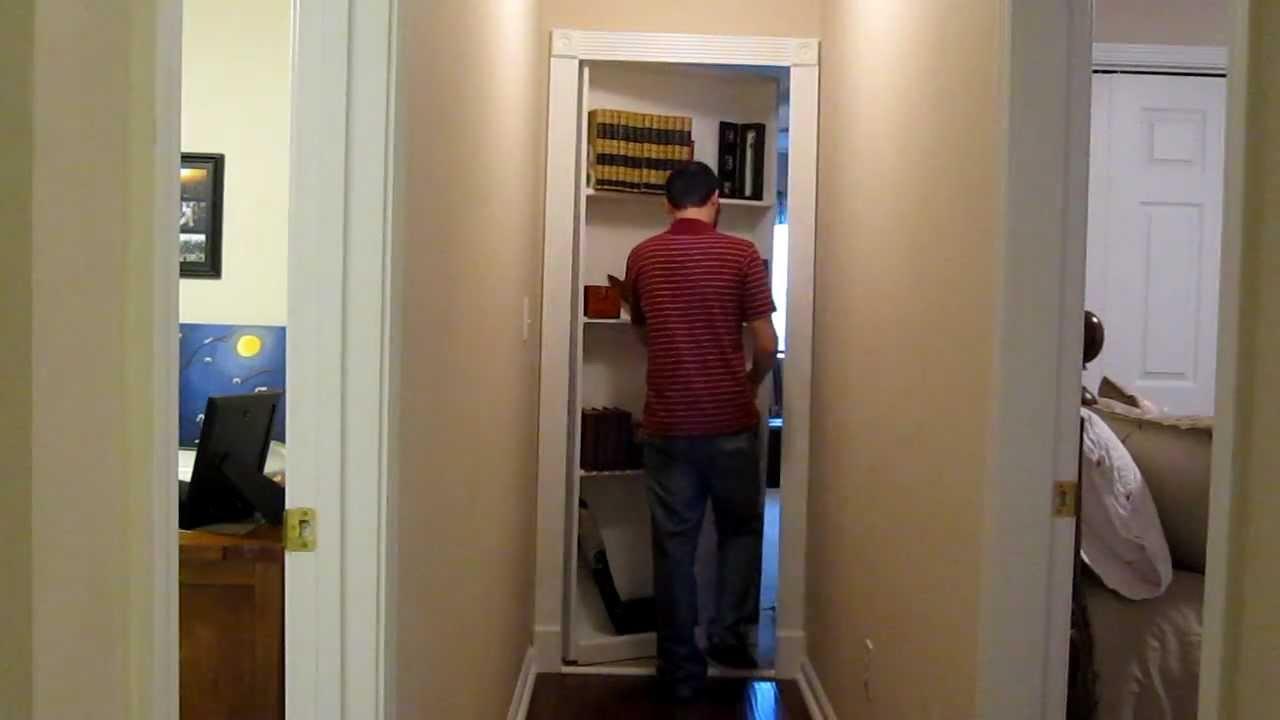 Hidden Bookshelf Door Youtube