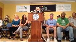 """Press Conference: Meet the """"Ocean's 16"""" N.J. Powerball Winners"""
