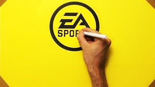 How To Draw EA Sports FIFA 17 Logo - Speed Drawing