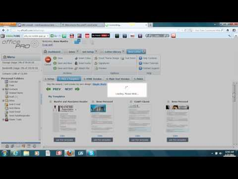 Video #10 -ComF5/OfficePro- Creating An Email Template.avi
