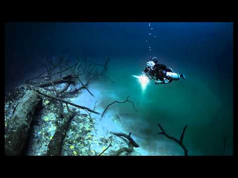 Hidden Underwater River Flowing Under the Ocean in Mexico HD 2014