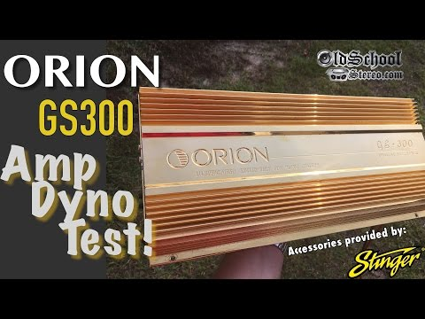 24kt Gold Plated Amplifier? 1991 Orion GS300 Amp Overview and Dyno Test