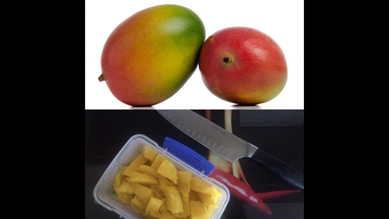 Fastest And Best Way To Cut Up A Mango!