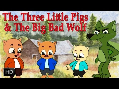 The Three Little Pigs And The Big Bad Wolf - Animated Cartoon Full Movie For Kids