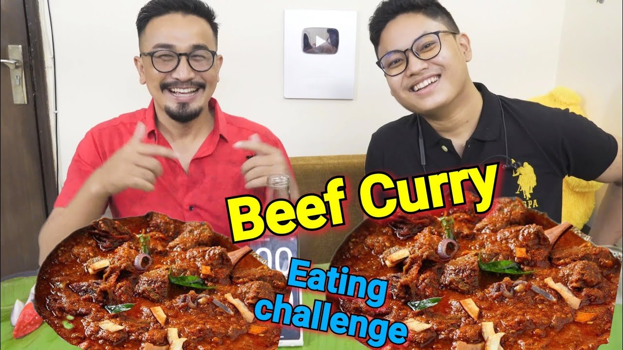 Download Red Meat ( Beef curry) EATING CHALLENGE Manipuri || Beef mathel chaba hanba thuba tanaba manipuri