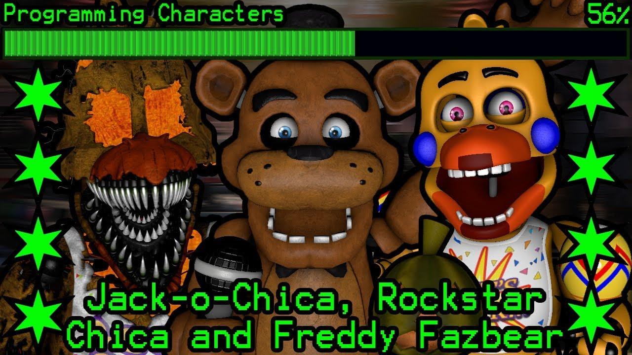 How will Jack-o-Chica, Rockstar Chica and Freddy Fazbear work in Ultimate  Custom Night?