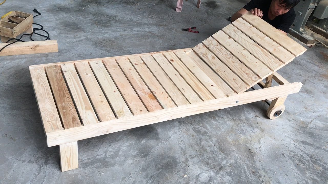 Amazing Creation Woodworking Ideas From Old Pallet // Build A Sun Loungers - How To, DIY!