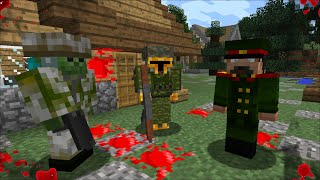 MC NAVEED AND MARK FRIENDLY ZOMBIE BECOME SOLDIERS AND FIGHT ARMY OFFICERS !! Minecraft Mods