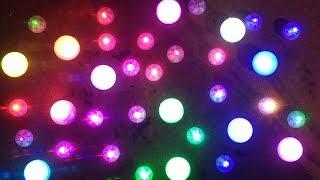 Cordless LED fairy pearls.  (battery per light)