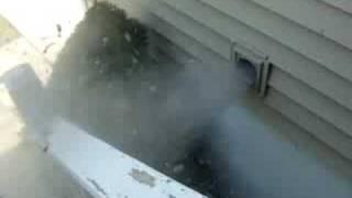 Dryer vent + 200mph leaf blower