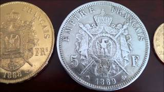 Compairing French Silver and Gold coins