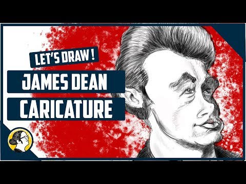 Celebrity Caricature : Let's Draw James Dean! #4