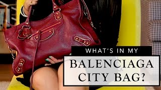 What's In My Balenciaga Bag? + Bag Review | Sonal Maherali