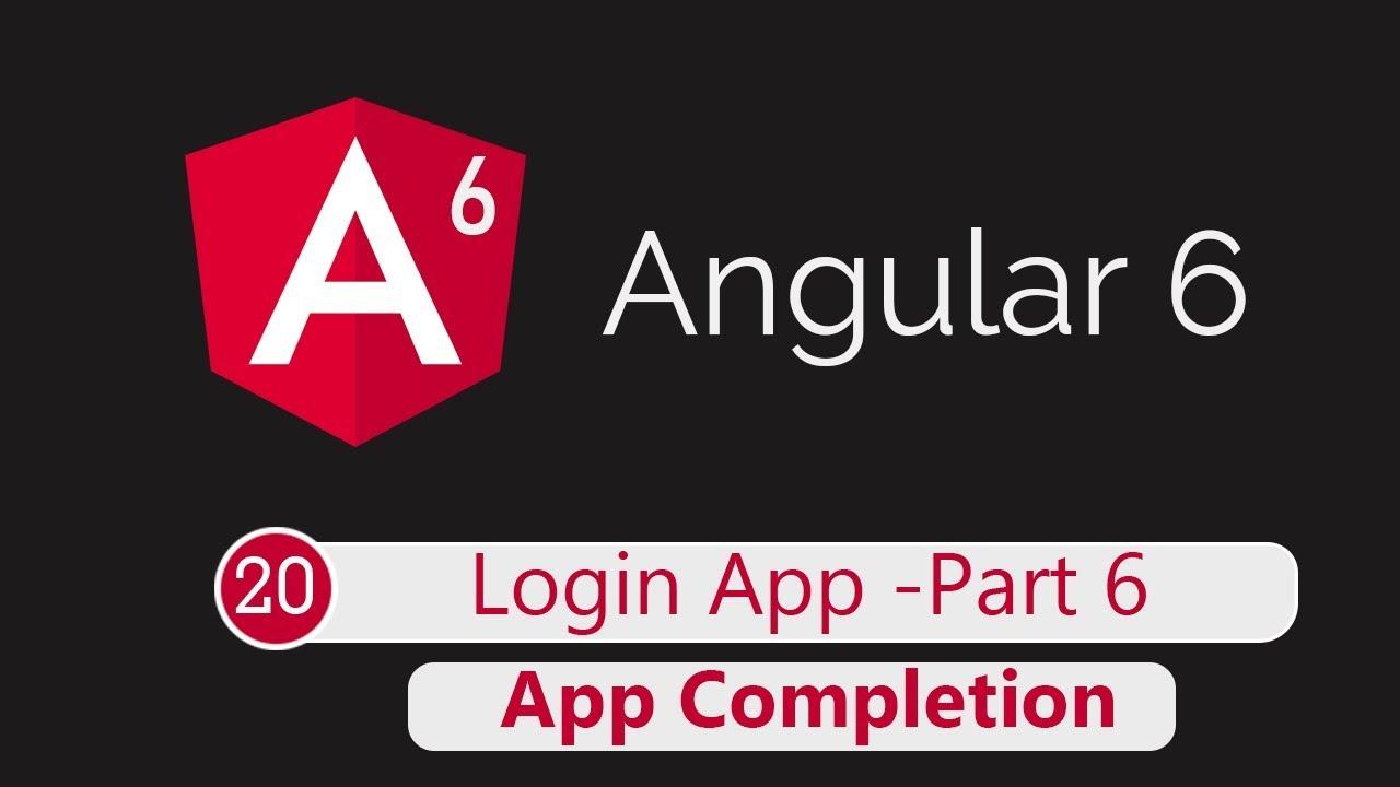 Angular 6 Tutorial 20: Adding Logout feature and UI (Login App Part 6)