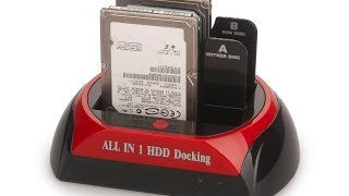 USB HDD Hard Drive Multi-Function Docking Station Reader - UNBOXING