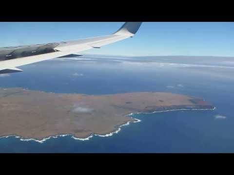 Arriving over Easter Island, December 2013