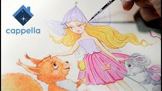 Роспись детского столика от Cappella для Princessa Wood. Роспись мебели