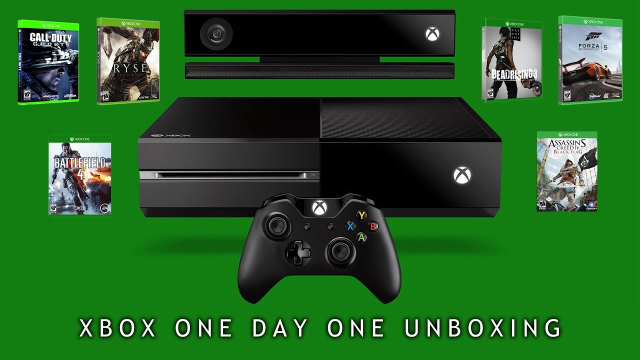 Xbox One Day One Edition Unboxing w/6 Xbox One Games ...