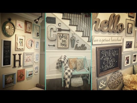 Diy Shabby Chic Style Gallery Wall Decor Ideas Home