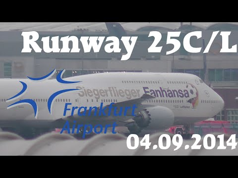 Frankfurt Airport 25C/L Spotting [HD]
