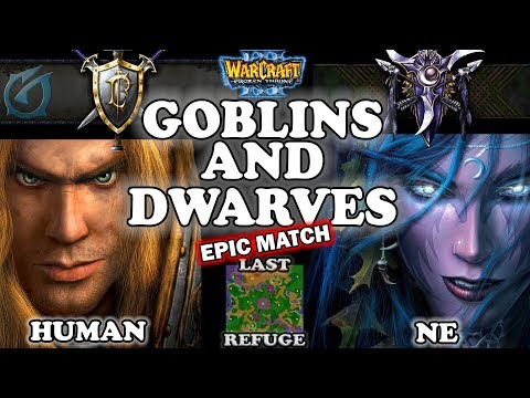 Grubby | Warcraft 3 TFT | 1.29 LIVE | HU v NE on Last Refuge - Goblins and Dwarves