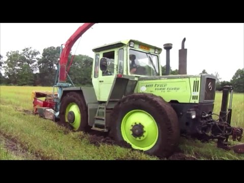 mb trac 1600 turbo und 900 turbo beim gps silageernte. Black Bedroom Furniture Sets. Home Design Ideas