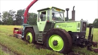 Repeat youtube video MB-Trac 1600 Turbo und 900 Turbo beim GPS Silageernte !!(SOUND)