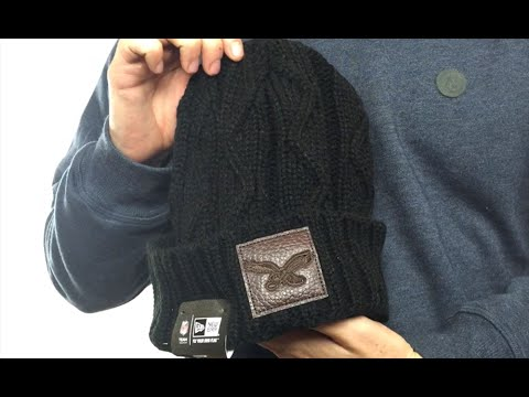 Eagles  THROWBACK OHANA  Black Knit Beanie Hat by New Era - YouTube a2eff19a9