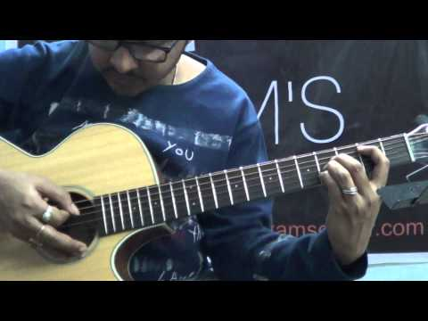 Guitar Lesson: Poets of the Fall:Cradled in love fingerstyle part (www.tamsguitar.com)