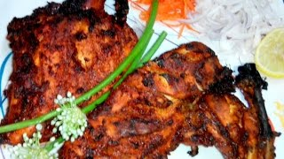 Crispy Tandoori Chicken In Microwave - Indian Restaurant Style...