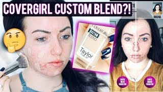 Does it Work?! NEW COVERGIRL CUSTOM BLEND FOUNDATION Scan your Face Using an App! First Impression