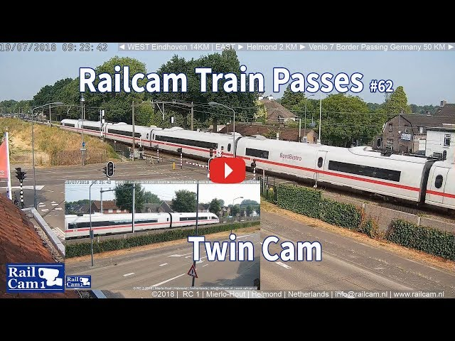 RailCam Train Passes on Twin Cam #62