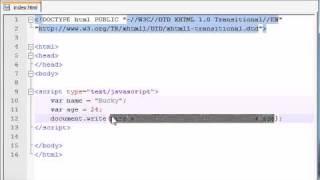 Beginner JavaScript Tutorial - 5 - Using Variables with Strings