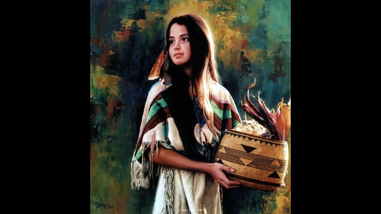 40 Gorgeous Native American Paintings by Karen Noles - YouTube