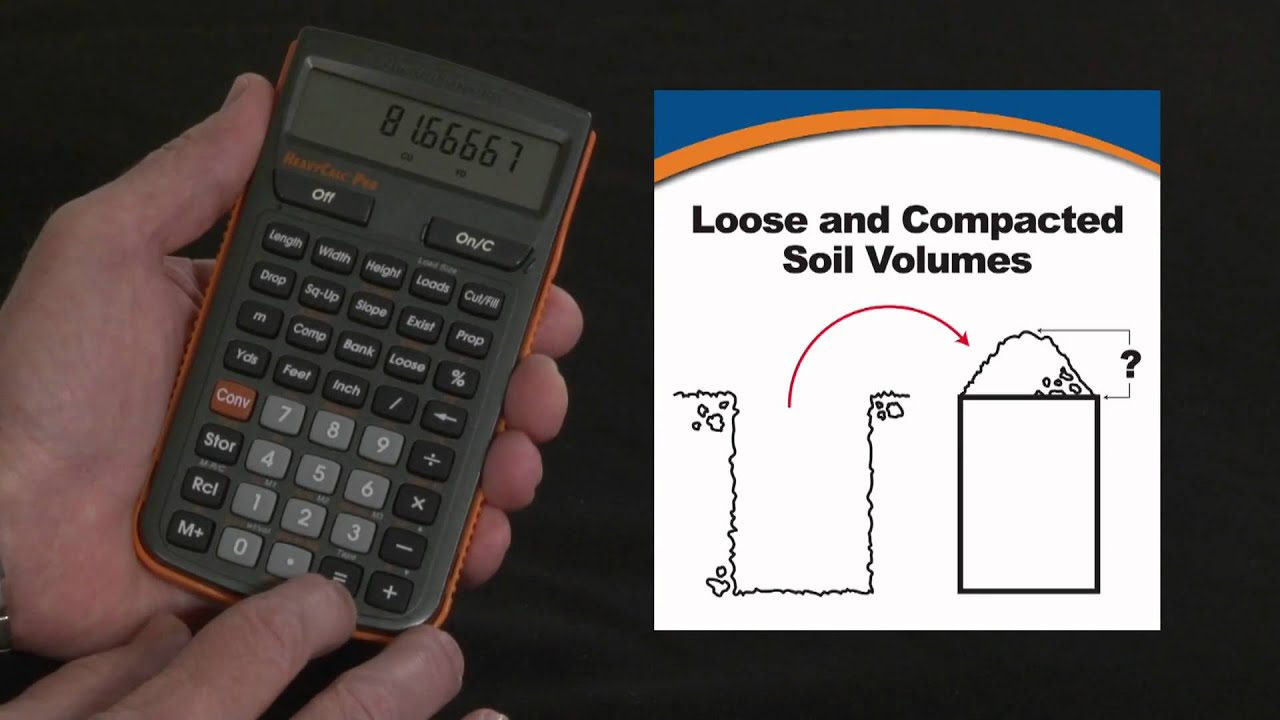 Heavycalc pro loose and compacted soil volume calculations for Soil removal calculator