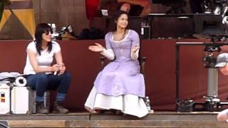 Bradley James, Santiago Cabrera and Angel Coulby rehearsing 21/6/11