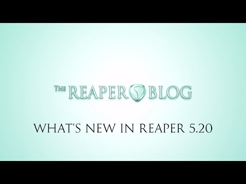What's New in REAPER 5.20 | MIDI Notation editor; Trim automation; new plugins