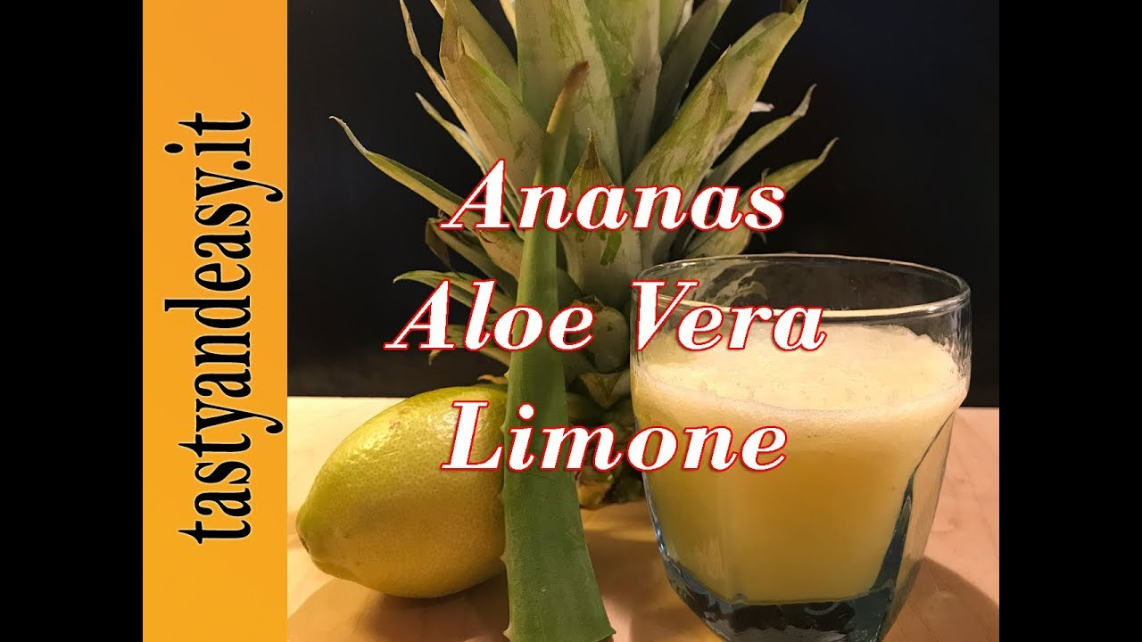 ananas con sabila e cetriolo per perdere peso
