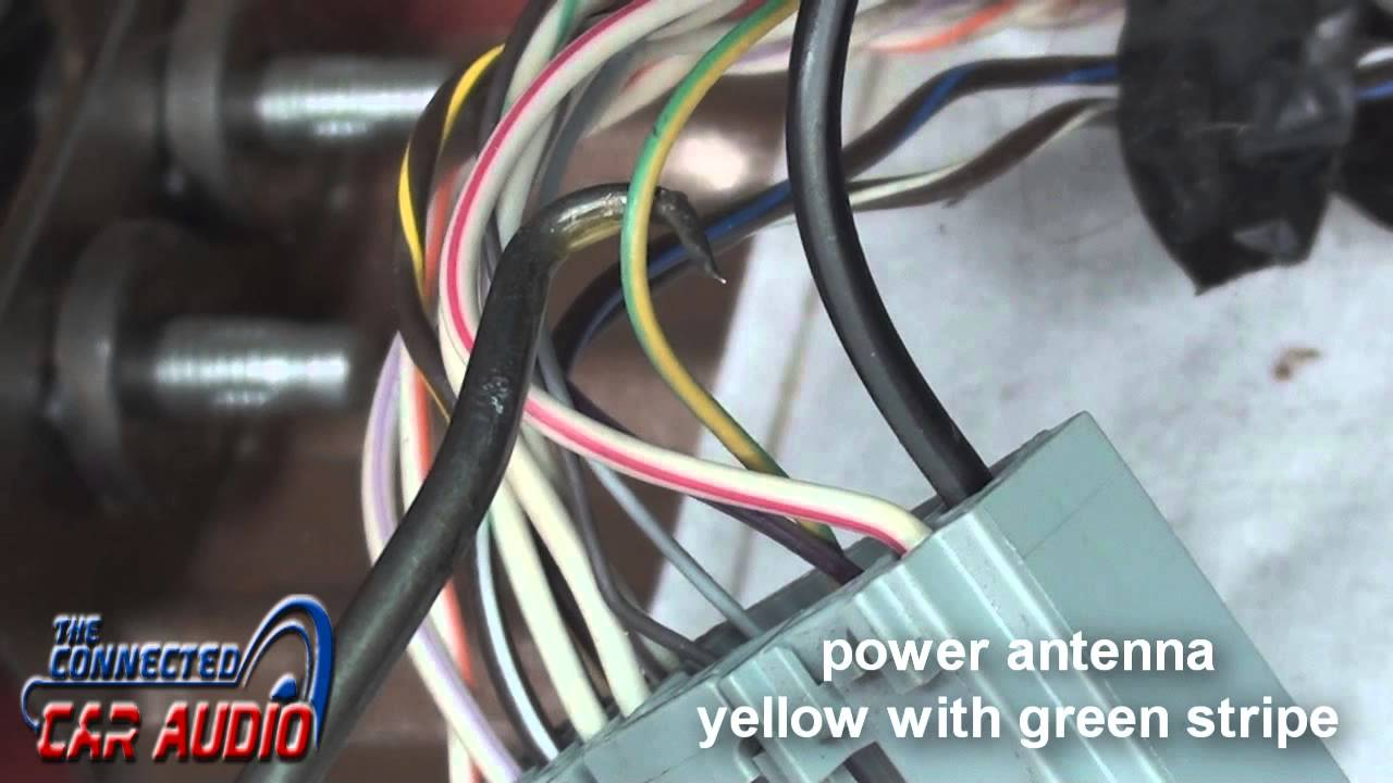 hight resolution of aftermarket radio wiring harnes color wire