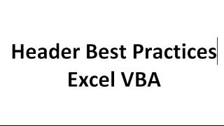 Excel VBA Tips n Tricks #6 How to not overwrite your column headers - FAILSAFE