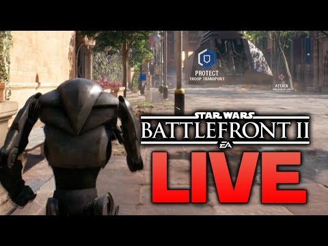 WATCH THOSE WRIST ROCKETS - Star Wars Battlefront 2 LIVE Q/A (Gameplay pre-recorded)