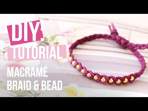 Schmuck machen: Macramé braid & bead Armbänder ♡ DIY