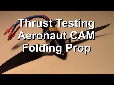 Aeronaut Folding Prop and Motor Thrust Testing for FX-61 Flying Wing