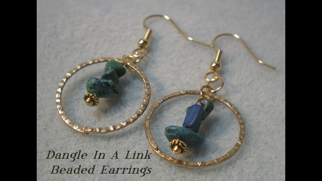 Dangle In A Hoop Beaded Earrings Tutorial