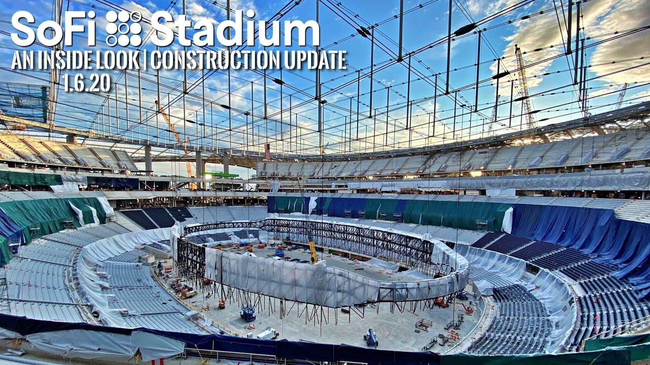 La Rams Chargers Sofi Stadium Construction Update 1 6 20 Youtube