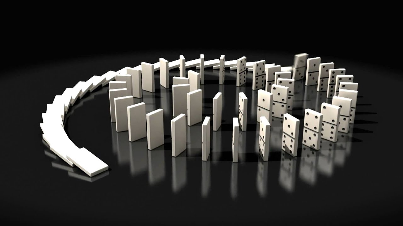 Dominoes Falling Wallpaper 3d Domino Falling Animation Youtube