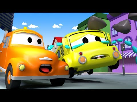Tom The TOW TRUCK and Lily The Bus in Car City | CARS & TRUCKS construction CARTOON for CHILDREN